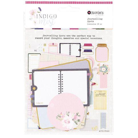 Rosie's Studio Indigo Mist Journaling Spots 30 Piece Mix