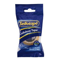 Sellotape Cellulose Clear 15mm x 10m Single
