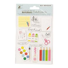 Little Birdie Star Student Sticker Embellishment 14 piece