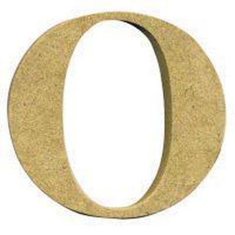 Sullivans Mdf Board Alphabet Letter 17cm O Brown