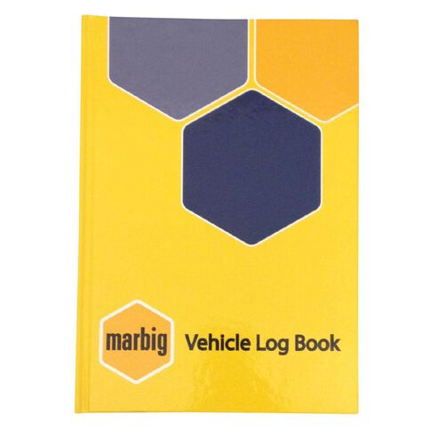 Marbig Vehicle Logbook Hard Cover Yellow A5