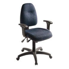 Eden Spectrum Deluxe 3 Lever Highback Ergonomic Chair with Arms Navy