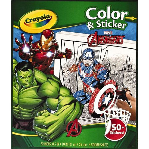 Crayola Colour & Sticker Book Marvel Avengers