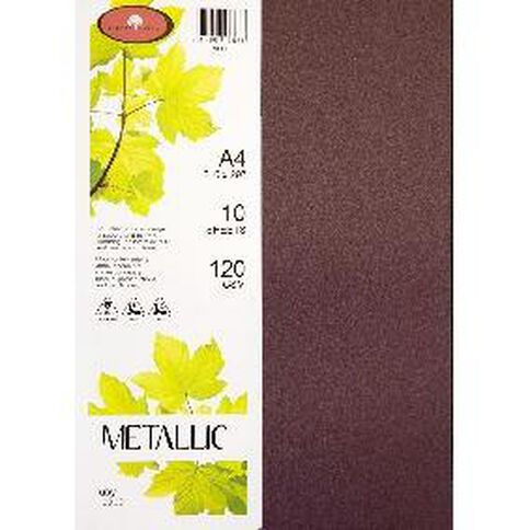 Direct Paper Metallic Paper 120gsm 10 Pack Ruby A4