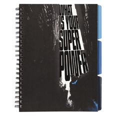 Batman Project Softcover Notebook With 3 Tabs Black
