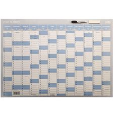 WS 2021 Year Planner 1000x700mm Laminated With Whiteboard Marker