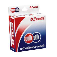 Quik Stik Labels Sold To Removable 160 Pack Red