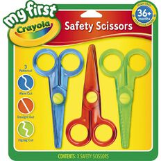 Crayola My First Safety Scissors 3 Pack