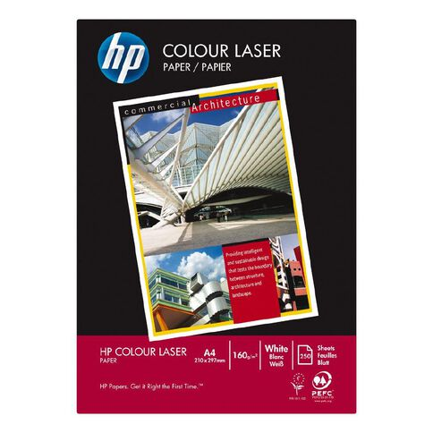 HP Colour Laser 160gsm 250 Pack White A4