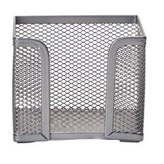 Impact Mesh Memo Cube Holder Pewter