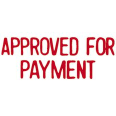 Xstamper Stamp Approved For Payment Red