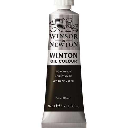 Winsor & Newton Winton Oil Paint 37ml Ivory Black