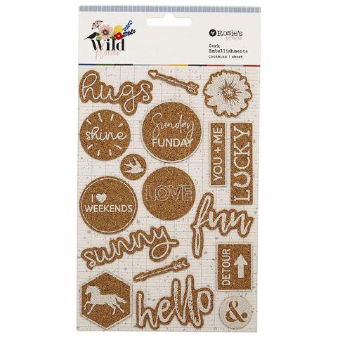 Rosie's Studio Wildflower Cork Stickers