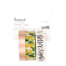 Uniti Botanical Foil Washi Tape 3 Pack