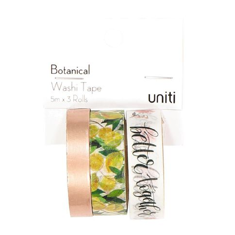 Uniti Botanical Foil Washi Tape 3 Pack