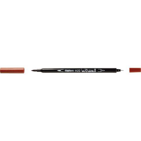 MARVY Le Plume II Dual Tip Marker Brown