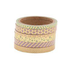 Uniti Washi Tape Gold 6 Pack