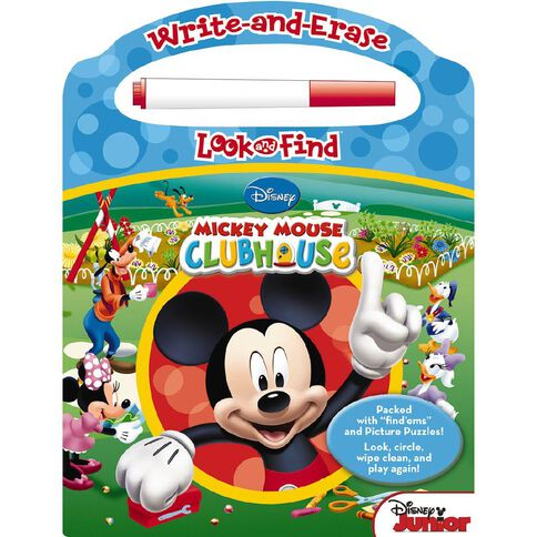 Mickey Mouse: Wipe Clean Look & Find