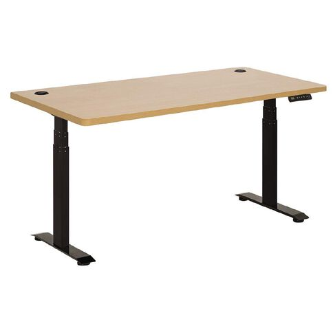 Jasper J Emerge Electric H-ADJ Desk Dual Motor 3 Stage 1800 Black/Beech