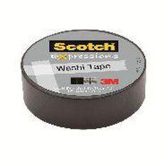 Scotch Washi Craft Tape 15mm x 10m Black