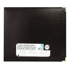 We R Memory Keepers Classic Leather Black Ring Album 12in x 12in