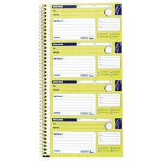 Spirax Telephone Message Book 550 Ncr Yellow