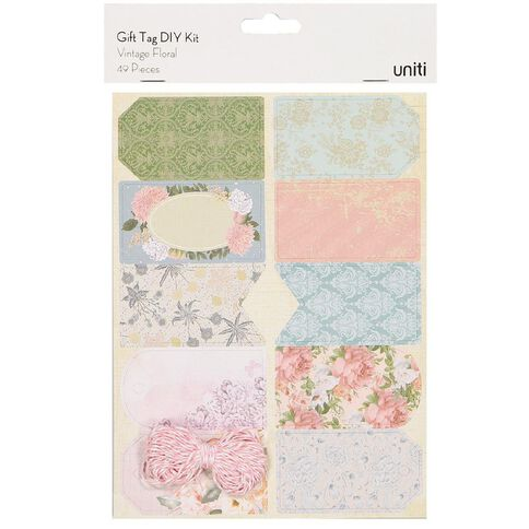 Uniti Gift Tag DIY Kit Vintage Floral
