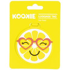 Kookie Silicone Luggage Tag Orange 7.5cm x 7.5cm