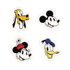 Mickey Mouse Eraser Set White 4 Pack