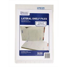 Filecorp 2014 Wallet Shelf File 10 Pack White