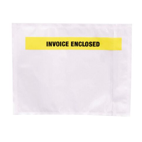 Packing Labelopes Invoice Enclosed 100 Pack White