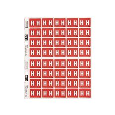 Filecorp Coloured Labels H Red