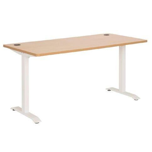 Jasper J Emerge Metal Leg Desk 1500 Beech/White