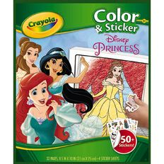 Crayola Colour & Sticker Book Disney Princess