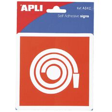APLI Self Adhesive Sign Fire Hose