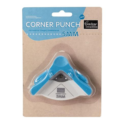 Couture Creations Craft Punch Corner Round 5mm Blue