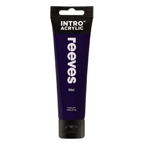 Reeves Intro Acrylic Paint Violet Purple 120ml