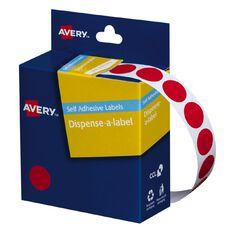 Avery Red Dispenser Dot Stickers 14mm diameter 1050 Labels