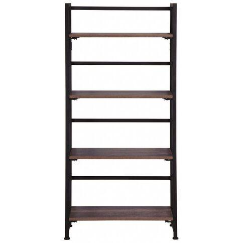 Workspace Folding Bookcase Walnut