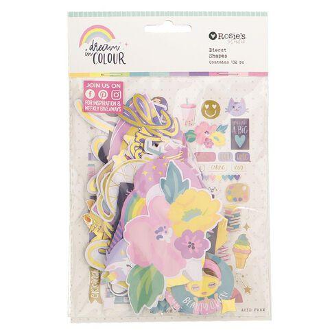 Rosie's Studio Dream In Colour Cardstock Diecuts 132 Pack