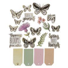 Uniti Wild Bloom Vellum Die Cuts 60 Pieces