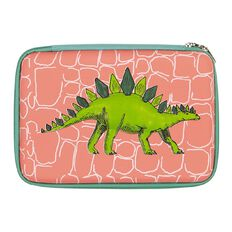 Kookie Chomp Pencil Case Dinosaur Moulded Coral