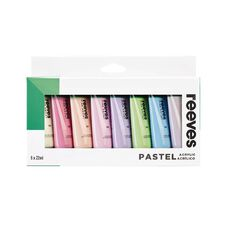 Reeves Acrylic Set 22ml Pastel 8 Pack