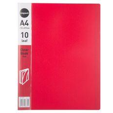 Impact Clear Book 10 Leaf Red A4