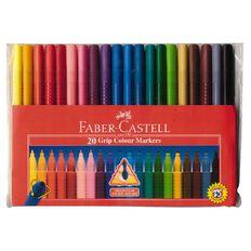 Faber-Castell Grip Felt Pens 20 Pack