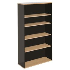 Firstline 5 Tier Bookcase 1800 Beech/Ironstone