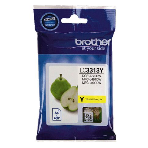 Brother Ink LC3313Y Yellow (400 Pages)
