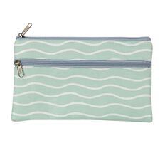 WS Pencil Case Flat 2 Zip Wave