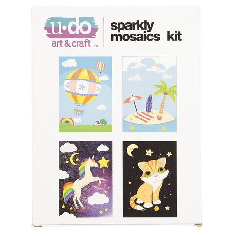 U-Do Sparkly Mosaics Kit 4 Pack
