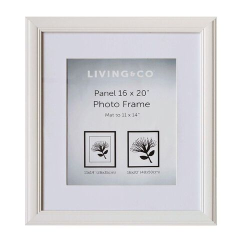 Living & Co Panel Frame 11x14in or 16x20in White